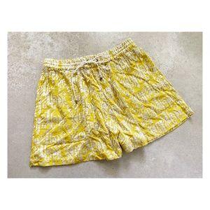 Anthro Elevenses flowy shorts kilim embroidery